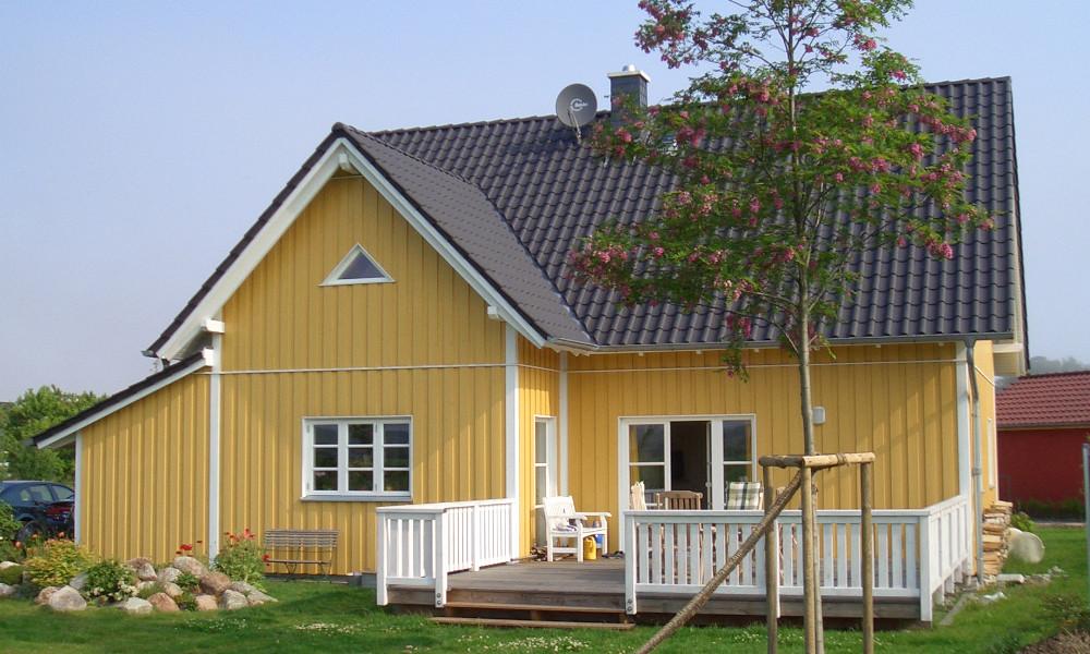 gelbes Schwedenhaus