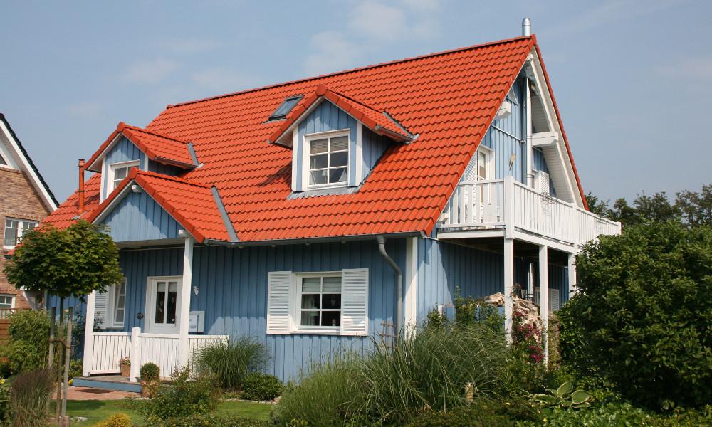 blaues Schwedenhaus