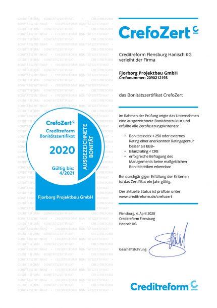 Fjorborg Haeuser - CrefoZert 2020